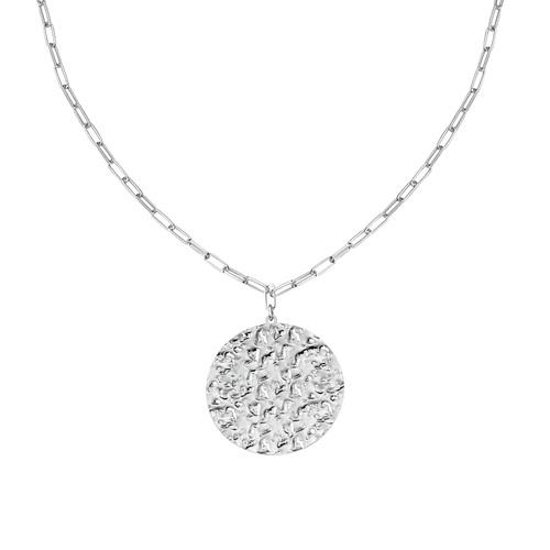 Hammered Medal Necklace