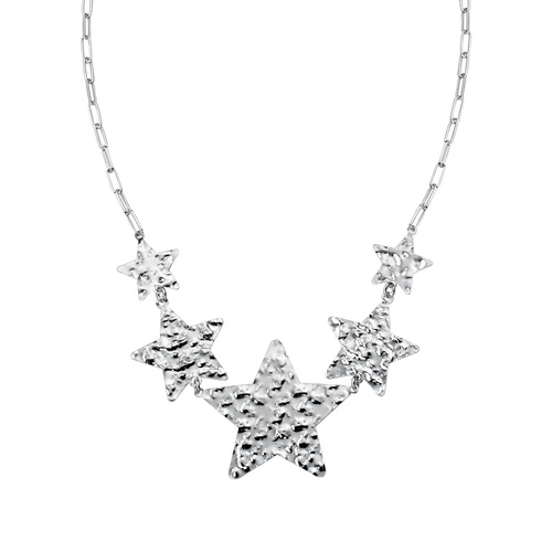 Hammered Stars Necklace