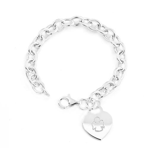 Heart bracelet AG925 rhodium