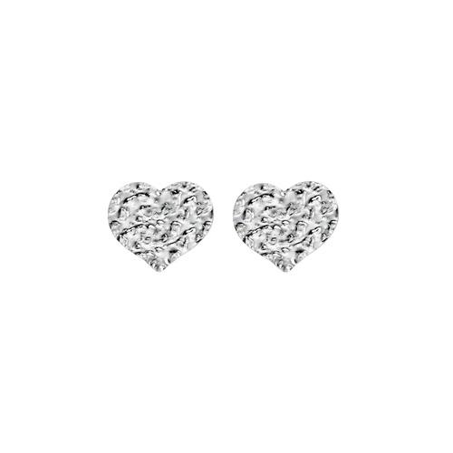 Heart Hammered Earrings