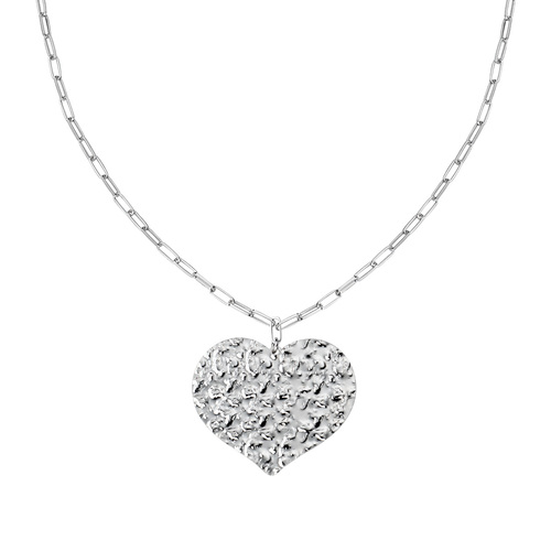 Heart Hammered Necklace