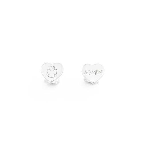 Heart Sterling silver earrings
