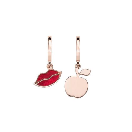 Kiss and Apple Rosé Earrings