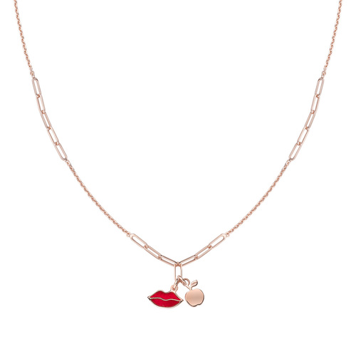 Kiss and Apple Rosé Necklace