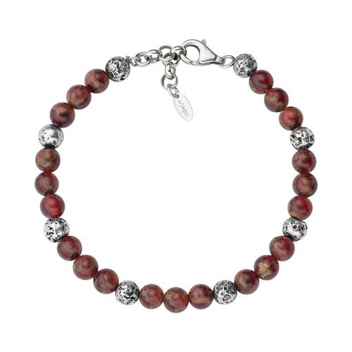 Lava Stone and Red Tiger Eye Bracelet