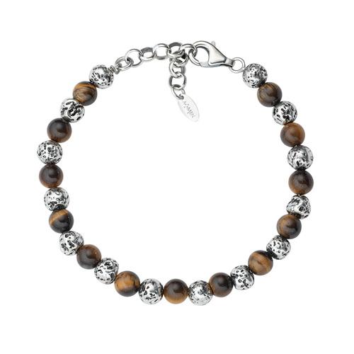 Lava Stone and Tiger's Eye Bracelet