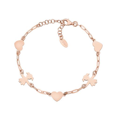 Little Girl Chain Bracelet and Rosé Hearts