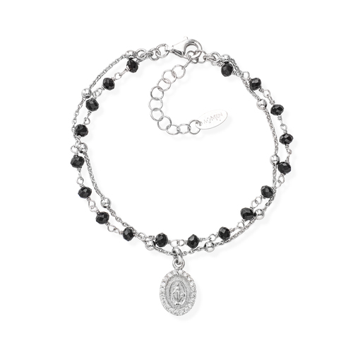 Miraculous and Black Crystals Bracelet