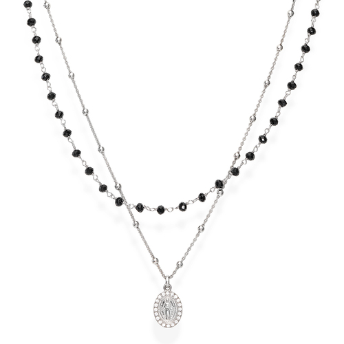 Miraculous and Black Crystals Necklace