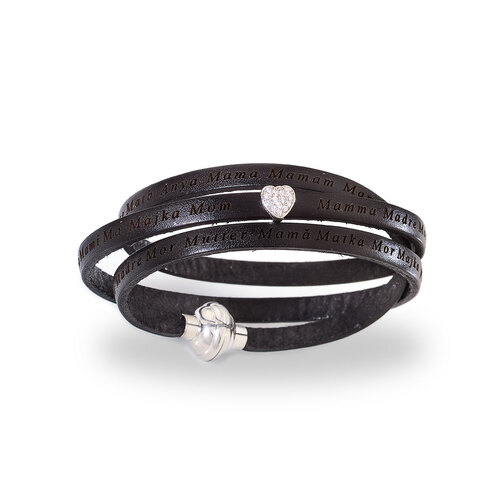 Mother Bracelet Black Leather