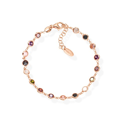 Multicolor Drops Zirconia Bracelet