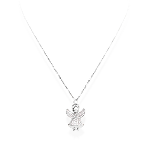 Necklace Angel Silver Pavè N&N
