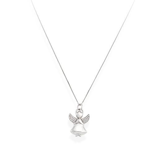 Necklace Angel Silver Zirconia N&N