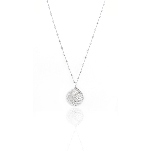 Necklace call angels with cross AG925 and zircon