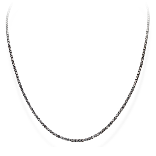 Necklace Chain Box and Zircons Black