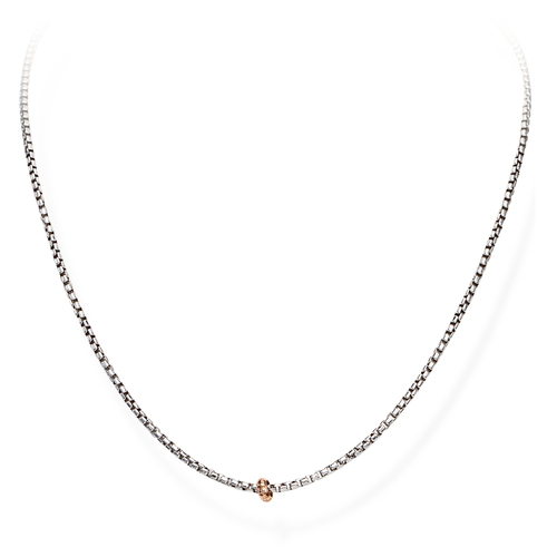 Necklace Chain Box Rhodium