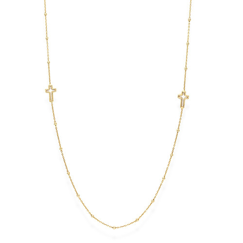 Necklace Choker Crosses Golden