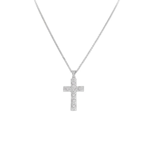 Necklace Cross Zircons