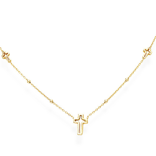 Necklace Crosses Golden