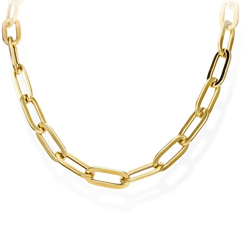 Necklace Crushed Rolò Chain Oval Golden