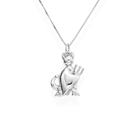 Necklace Devil Profile Silver N&N