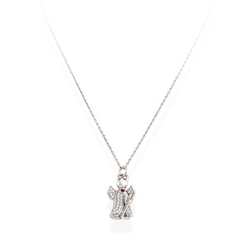 Necklace Devil Silver Pavè N&N