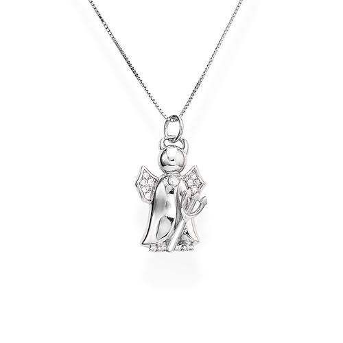 Necklace Devil Silver Zirconia N&N