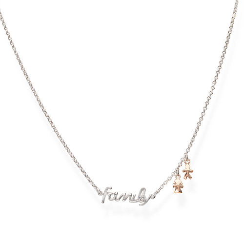 Necklace Family and Charm Rosè