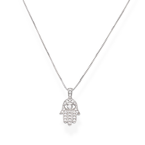 Necklace Fatima's Hand Zirconate