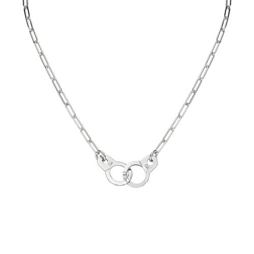 Necklace Handcuffs Rhodium