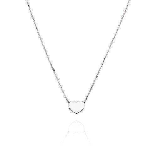 Necklace Heart Rhodium