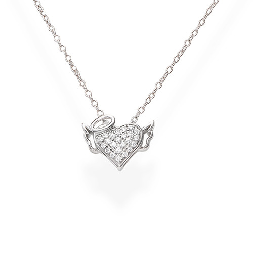 Necklace Heart Zirconate Little Angel