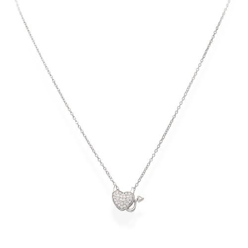 Necklace Heart Zirconate Little Imp