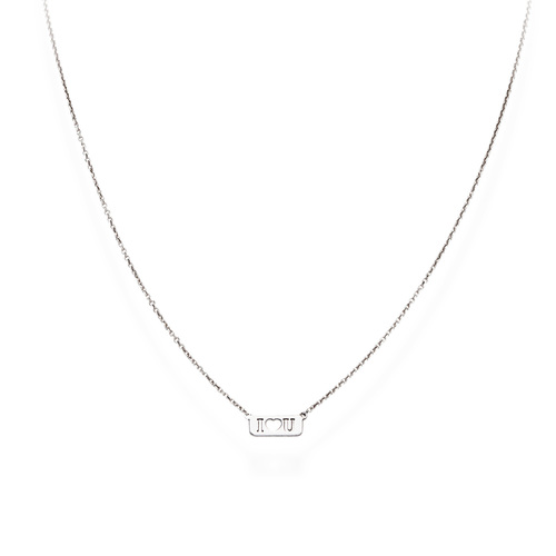 Necklace I Love You Rhodium