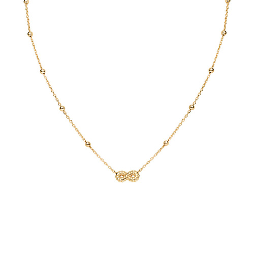 Necklace Infinity Knurled Golden