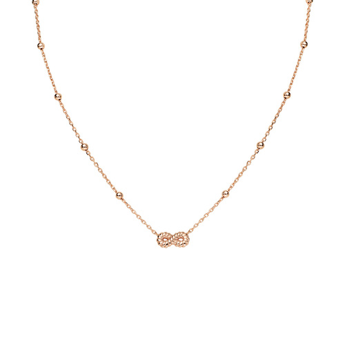 Necklace Infinity Knurled Rosè