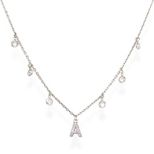 Necklace Letter A Zircons