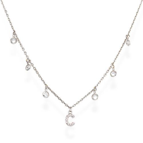 Necklace Letter C Zircons