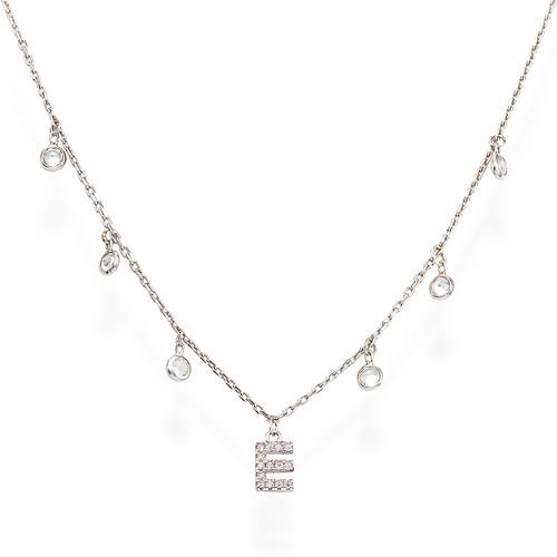 Necklace Letter E Zircons