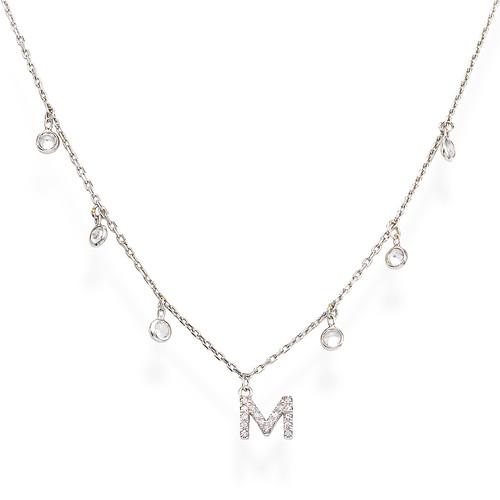 Necklace Letter M Zircons