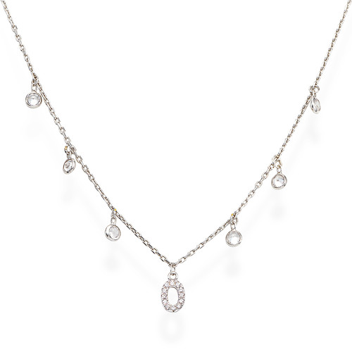 Necklace Letter O Zircons