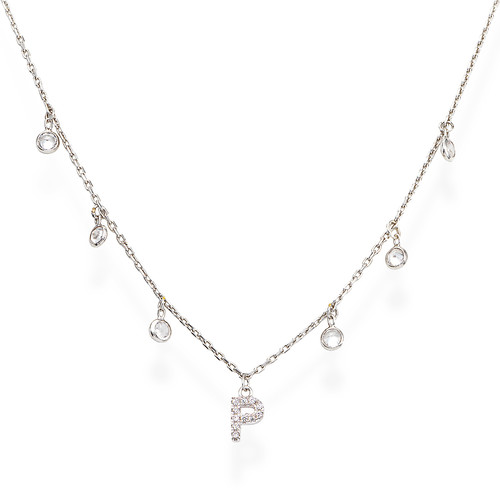 Necklace Letter P Zircons