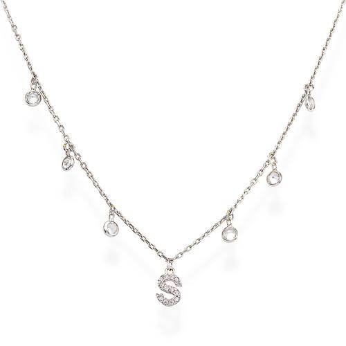 Necklace Letter S Zircons