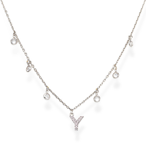 Necklace Letter Y Zircons