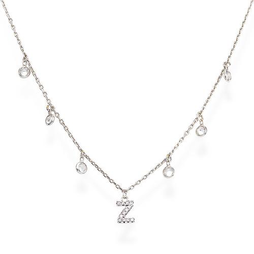 Necklace Letter Z Zircons