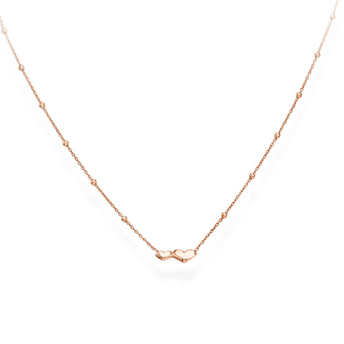 Necklace Little Hearts Rosè