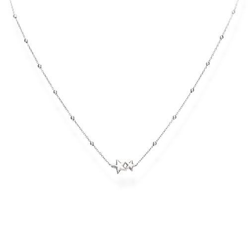 Necklace Little Stars Rhodium