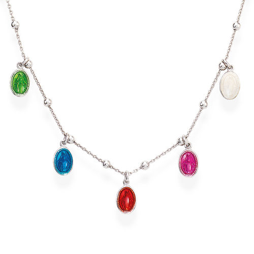 Necklace Madonna Enamelled Multicolor