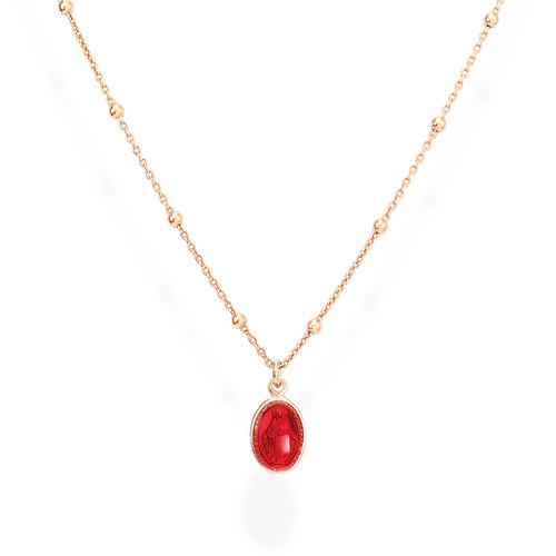 Necklace Madonna Enamelled Red