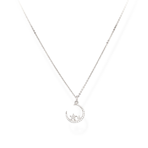Necklace Moon and Stars Zircons